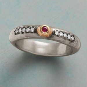 Sundance Promise To Love Ring Diamonds & Ruby Sz 8